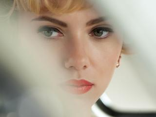 scarlett johansson, makeup, eyes wallpaper