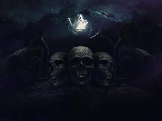 Scary Skulls wallpaper