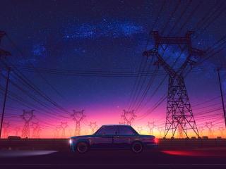 Scenery Night Digital Art wallpaper