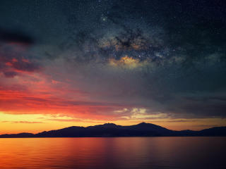 Scenery Sunset Stars wallpaper