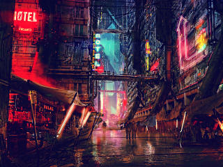 Sci FI Cyberpunk CIty wallpaper