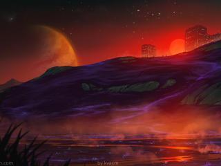 Sci Fi Landscape 2021 HD Desktop Art wallpaper