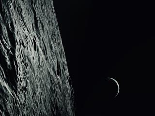 Sci Fi Moon 8k Ultra HD wallpaper