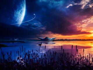 Sci Fi Night Sky wallpaper