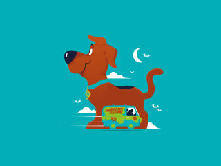 Scoob Poster Minimalist wallpaper