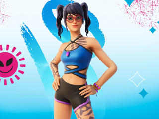 Scuba Crystal Outfit Fortnite wallpaper