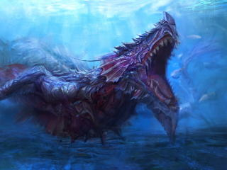 Sea Monster Underwater Creature wallpaper