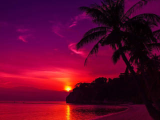 Seashore Colorful Sunset wallpaper