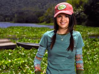 selena gomez, girl, hat wallpaper