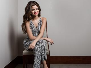 selena gomez, smile, dress wallpaper