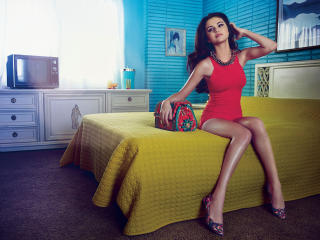 Selena Gomez Stunning Red Dress Instyle wallpaper
