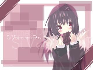 senmu valentine, girl, brunette wallpaper