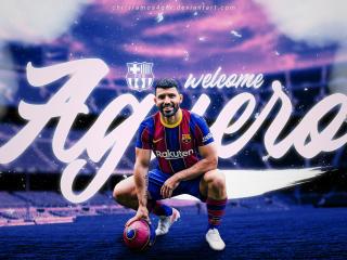 Sergio Agüero Barcelona wallpaper