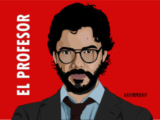 Sergio Marquina as The Professor wallpaper