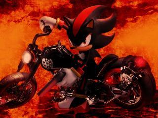 Shadow the Hedgehog FireArt wallpaper