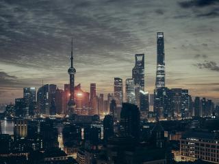 shanghai, china, skyscrapers wallpaper