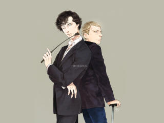 Sherlock Anime Art wallpaper