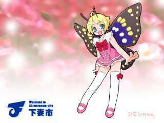 shimon shimotsuma, girl, blonde wallpaper