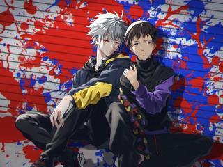 Shinji Ikari & Kaworu Nagisa Neon Genesis wallpaper