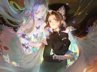 Shinobu Kocho Kimetsu no Yaiba wallpaper