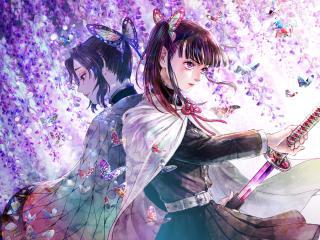 Shinobu Kochou and Kanao Tsuyuri wallpaper