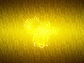 shinx, pokemon, yellow wallpaper