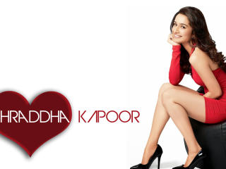Shraddha Kapoor In Red Dress  wallpaper