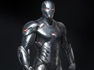 Silver Iron Man Suit 4K wallpaper