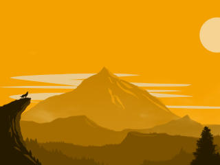 Simple Firewatch wallpaper