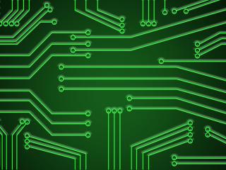 Simple Green Circuit wallpaper