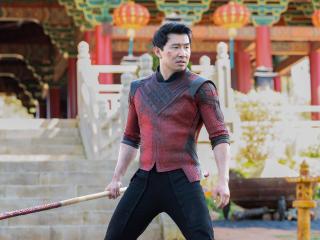 Simu Liu in Shang-Chi Marvel Movie wallpaper