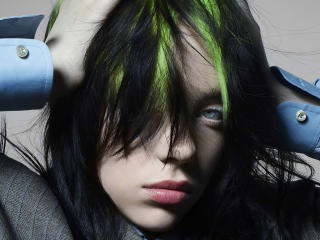 Singer Billie Eilish Face wallpaper