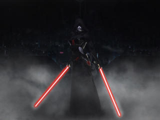 Sith with Lightsaber wallpaper