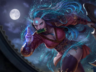 Sivir LoL Demon Slayer Art wallpaper