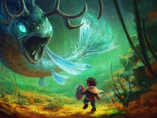 Skabma Snowfall HD Gaming Cool Art wallpaper