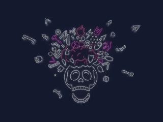 HD Wallpaper | Background Image Skull Explode Apple WWDC 2019