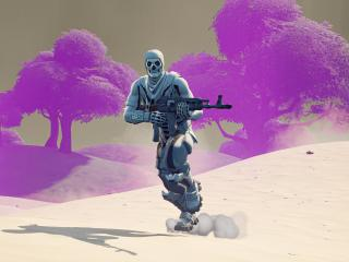 Skull Trooper 4K Fortnite wallpaper