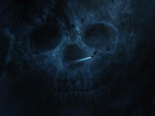 Skull Underwater wallpaper