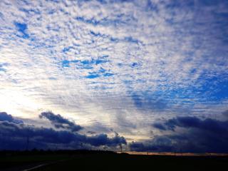 sky, clouds, evening wallpaper