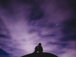 sky, stars, loneliness wallpaper