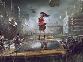 Small Girl In Post Apocalyptic wallpaper