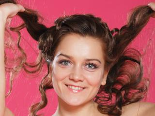 smile, girl, hair wallpaper