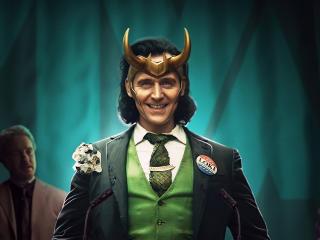 Smiling Loki Disney wallpaper