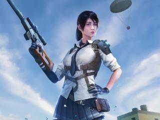 Sniper Girl Playerunknowns Battlegrounds wallpaper