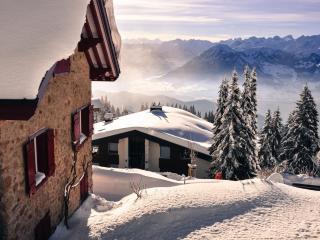 snow, mountains, winter wallpaper