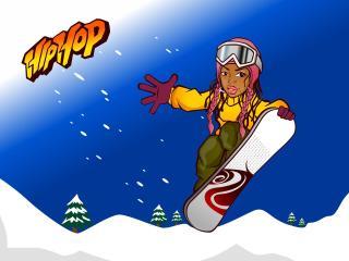 snowboard, snowboarder, jump wallpaper