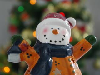 snowman, figurine, christmas wallpaper