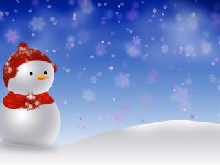 snowman, snowdrift, snow wallpaper