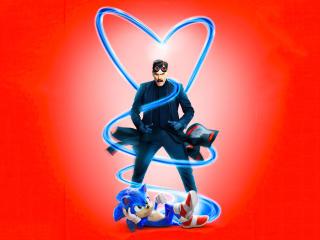 Sonic The Hedgehog 4k Movie Poster wallpaper