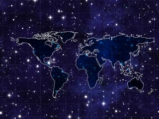space, continents, map wallpaper